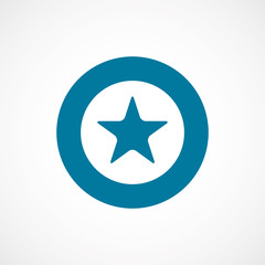 star bold blue border circle icon.