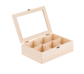 Wooden box for balls.