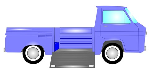 1960s truck with side ramp