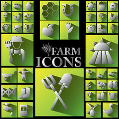 white and shadow farm icons