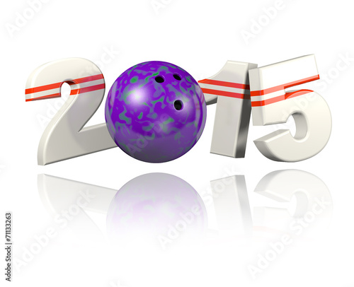 canvas print picture Bowling 2015 design