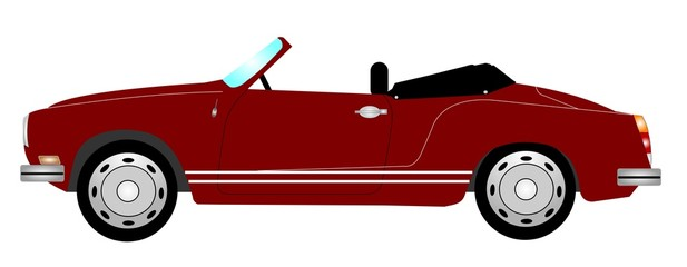 retro sports car from fifties