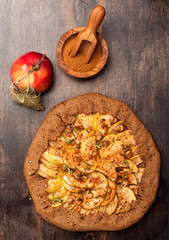 Apple Galette. Homemade pie with apples