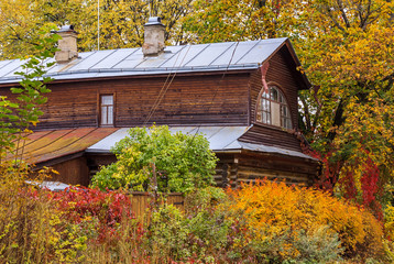 Old wooden country house