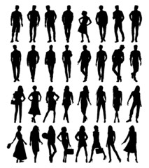 Silhouettes . Vector illustration