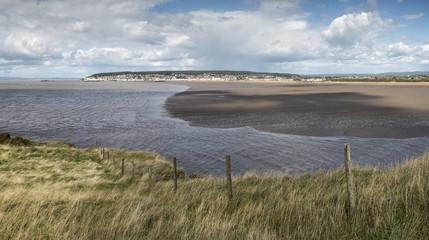 Weston-Super-Mare beach Summer landscape panorama viewed from Br