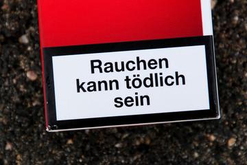 Zigarettenwarnhinweis