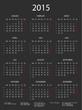 Kalender 2015 schwarz