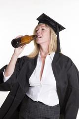 Beer drinking University student drinking beer