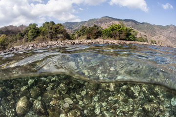Rocky Shore in Komodo National Park