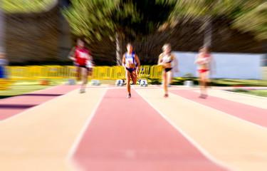 woman, foot race