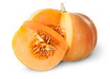 Fototapety Slice Of Pumpkin Behind Around