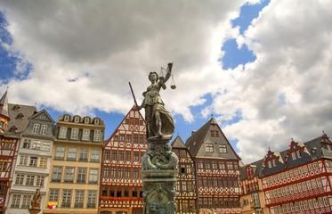 Justitia on the Römerberg Frankfurt, Germany