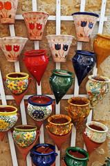 ceramiche artigianali nel villaggio di Domme - Aquitania