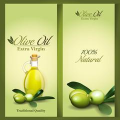 olive oil frame vector