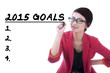 Female entrepreneur writes her goals