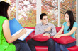 Hispanic couple consulting to psychiatrist