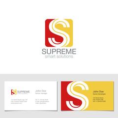 Corporate Logo S Letter company vector design. Logotype