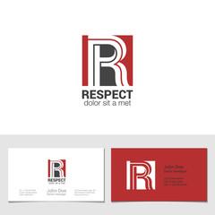 Corporate Logo R Letter company vector design. Logotype