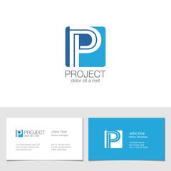 Corporate Logo P Letter company vector design. Logotype
