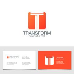 Corporate Logo T Letter company vector design. Logotype