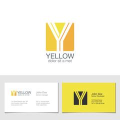Corporate Logo Y Letter company vector design. Logotype