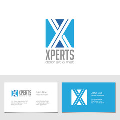 Corporate Logo X Letter company vector design. Logotype