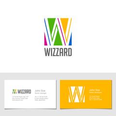 Corporate Logo W Letter company vector design. Logotype