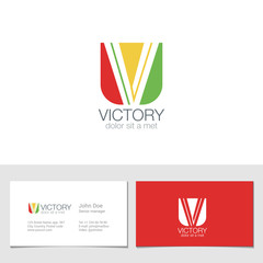 Corporate Logo V Letter company vector design. Logotype