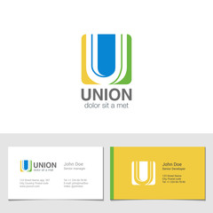 Corporate Logo U Letter company vector design. Logotype