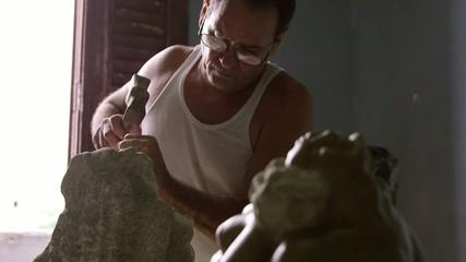 1of4 Artist, tools, art, craftsman, artisan working