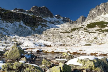 Snow-draped valley in the High Tatras