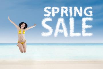 Spring sale promotion concept 1