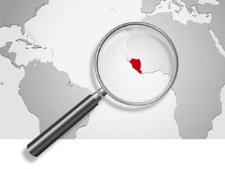 Landkarte *** Afrika EBOLA-1