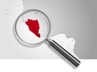 Landkarte *** Afrika EBOLA-2
