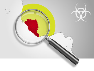 Landkarte *** Afrika EBOLA-4