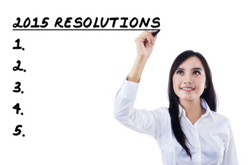 Young entrepreneur makes resolutions list