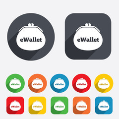 eWallet sign icon. Electronic wallet symbol.