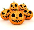 canvas print picture - Halloween pumpkins
