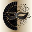 Zdjęcia na płótnie, fototapety, obrazy : elegant black mask