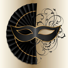 elegant black mask