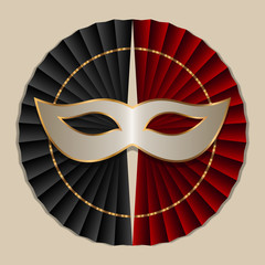 theatrical mask emblem