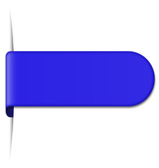 blue bookmark with shadow