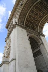Westfassade des Arc de Triomphe in Paris