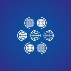 Globe icons