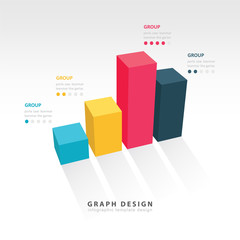 3D grap illustration Infographic