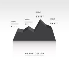 Editable business diagram graph chart black style