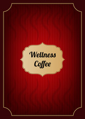 Red coffee menu cover