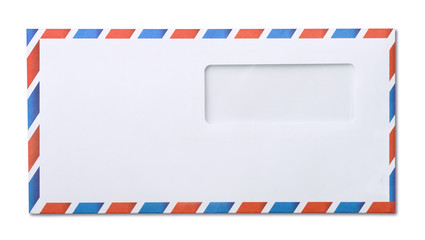 Air mail window envelope