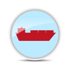 cargo shipping icon on white background